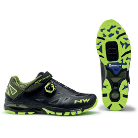 Northwave Spider Plus 2 Shoes Men, black/yellow fluo